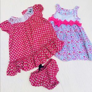 Lot of two baby girl dresses